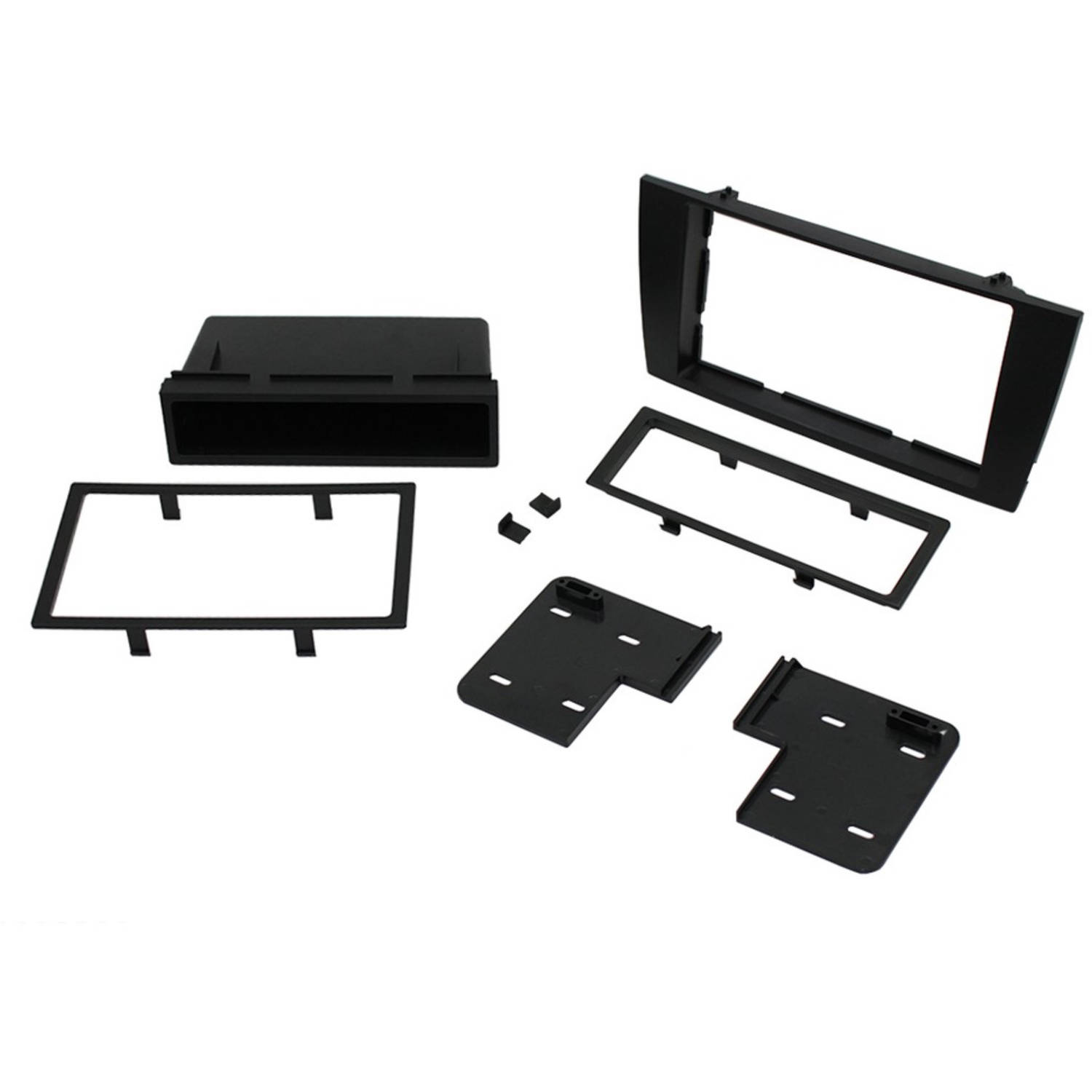 hight resolution of scosche jr8200b 2002 2008 jaguar x type iso double din mounting dash kit for car radio stereo installation black walmart com