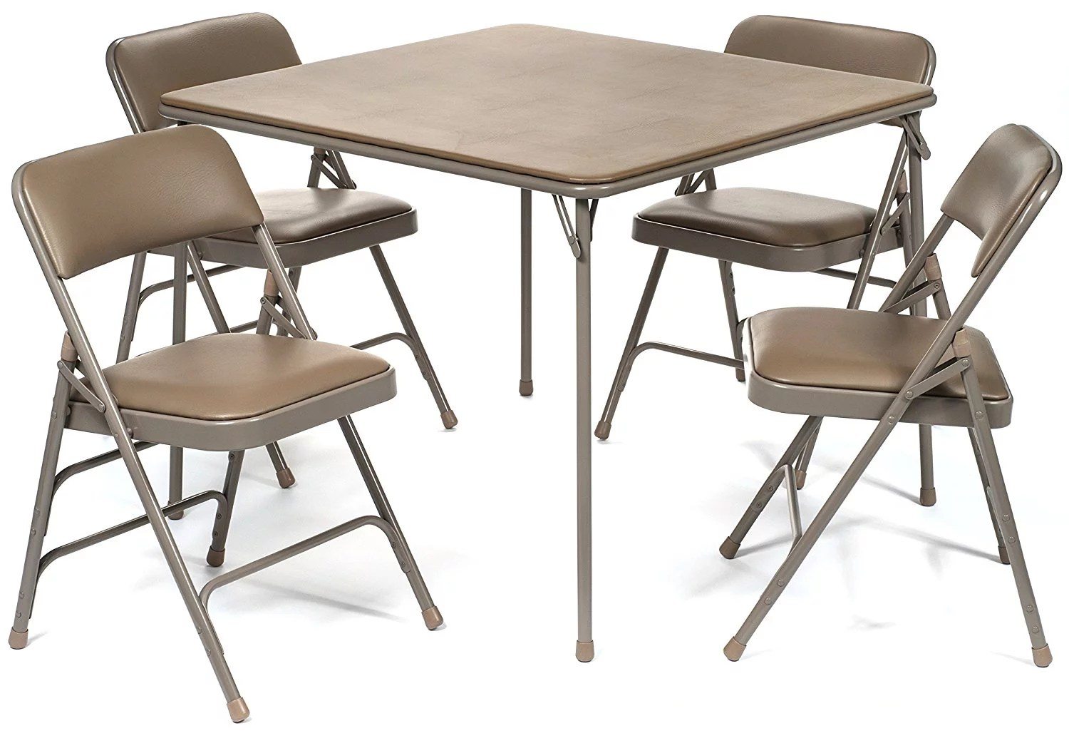 cosco card table and chairs recall mid century modern leather accent chair tables walmart com xl series folding triple braced vinyl padded set commercial