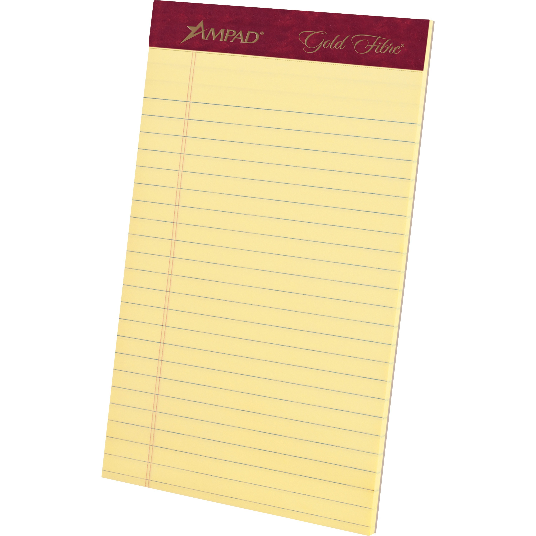Tops Top Gold Fibre Premium Jr Legal Writing Pads