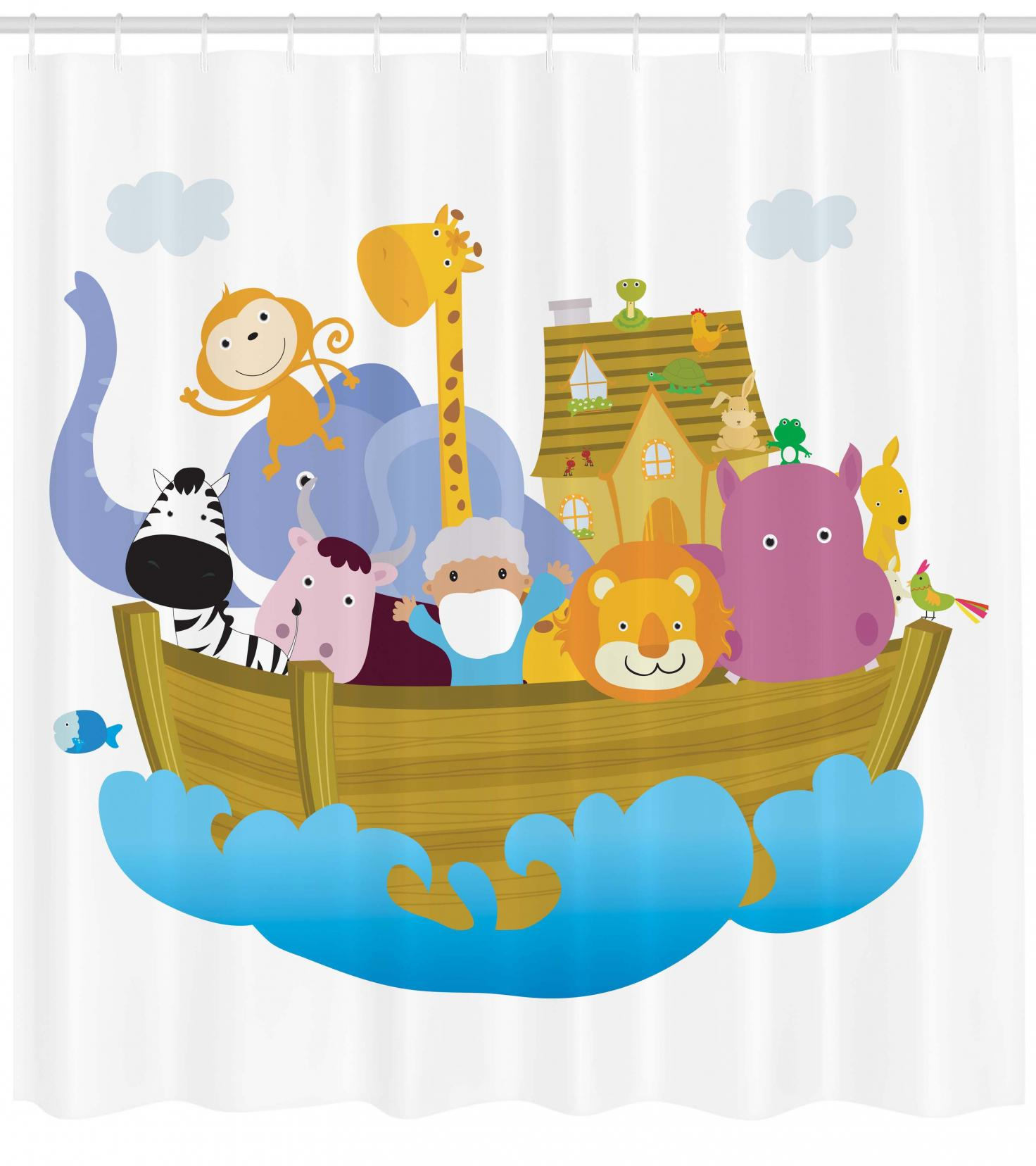 Religious Shower Curtain Religious Story the Ark with