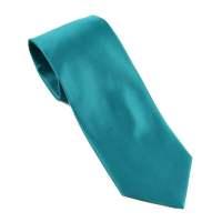 BuyYourTies - Mens Solid Neck Tie - Teal - Walmart.com