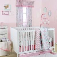 The Peanut Shell 4 Piece Baby Girl Crib Bedding Set - Pink ...