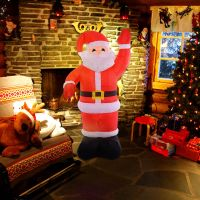 Costway 8Ft Airblown Inflatable Christmas Xmas Santa Claus ...