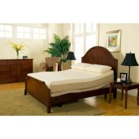 Sleep Zone Supreme Adjustable Bed and 10-inch Queen-size ...