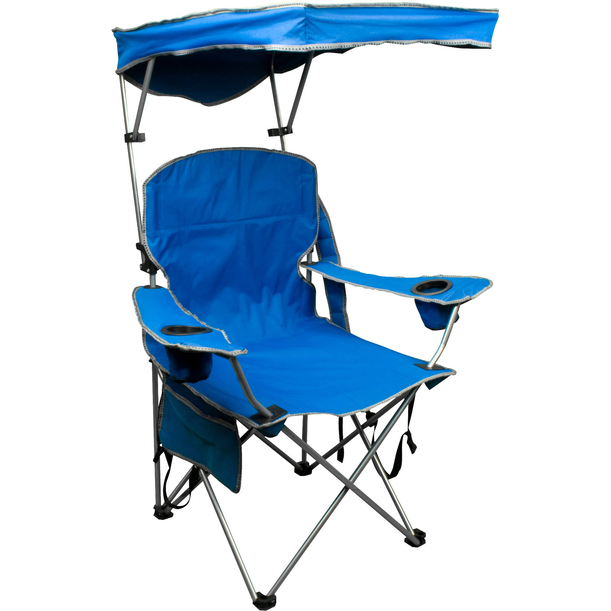 Camping Chair With Canopy Quik Shade Adjustable Canopy Folding Camp Chair