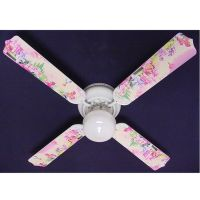 Girls Pink My Little Pony Print Blades 42in Ceiling Fan ...