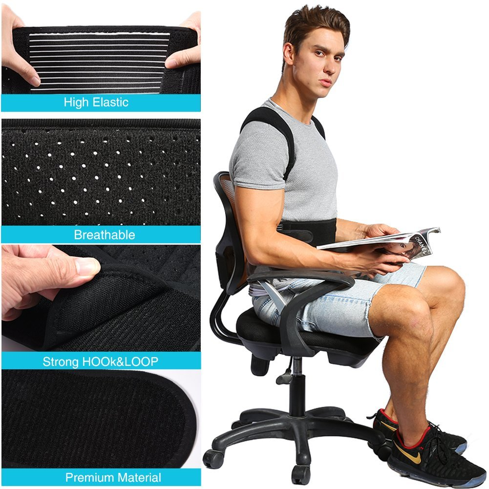 posture alignment chair covers rental cleveland ohio yosoo corrector clavicle support brace to relieve lower and upper back pain improve spine
