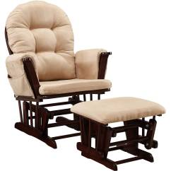 Cushions For Glider Chairs Black Salon Australia Baby Relax Harbour Rocker And Ottoman Espresso With Beige Walmart Com