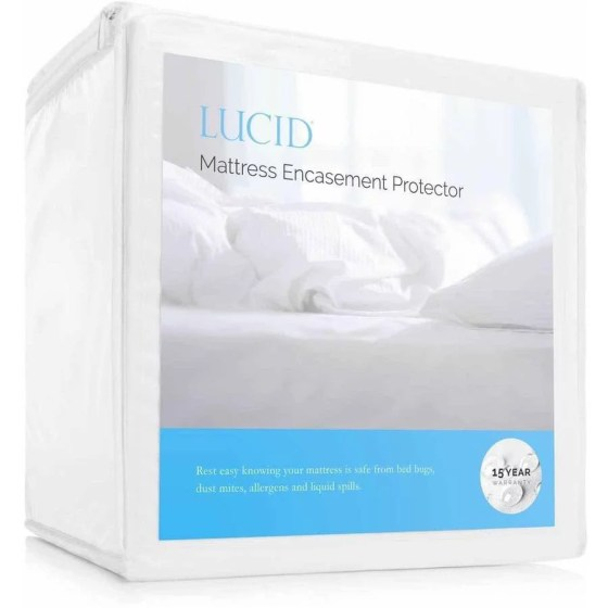 Lucid Zippered Mattress Encat Bed Bug And Waterproof Protector