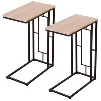 Costway Set Of 2 Coffee Tray Side Sofa End Table Ottoman ...