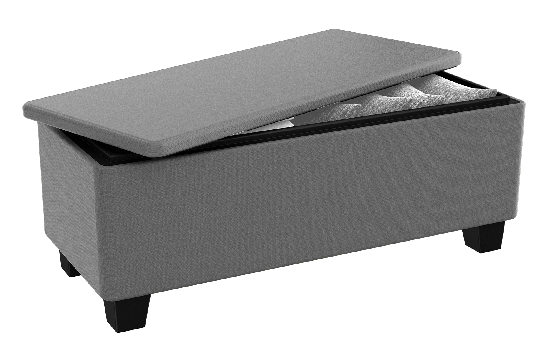 keter milan 23 gallon indoor outdoor storage bench with all weather fabric grey