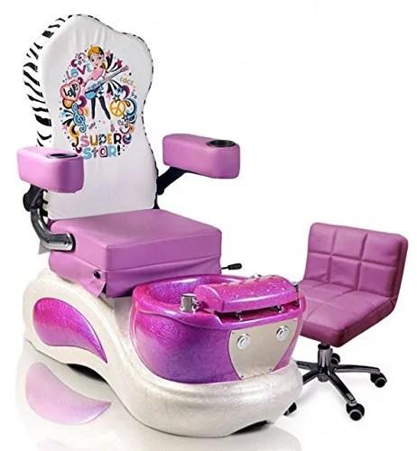 Kids Pedicure Chair PURPLE SUPER STAR Childs Pedicure Spa