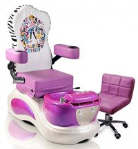 Kids Pedicure Chair PURPLE SUPER STAR Childs Pedicure Spa
