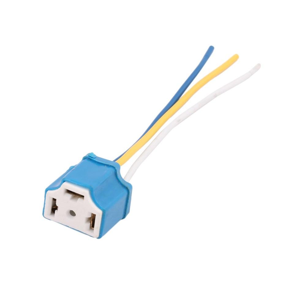 medium resolution of rubber coated ceramic socket 3 wire blue for car headlight lamp