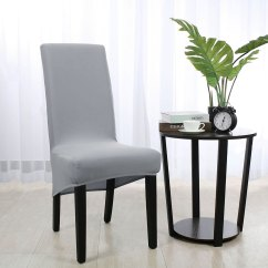 Chair Covers Long Back Blue Office Chairs Soft Cover Strech Spandex Dining Seat Light Gray Walmart Com