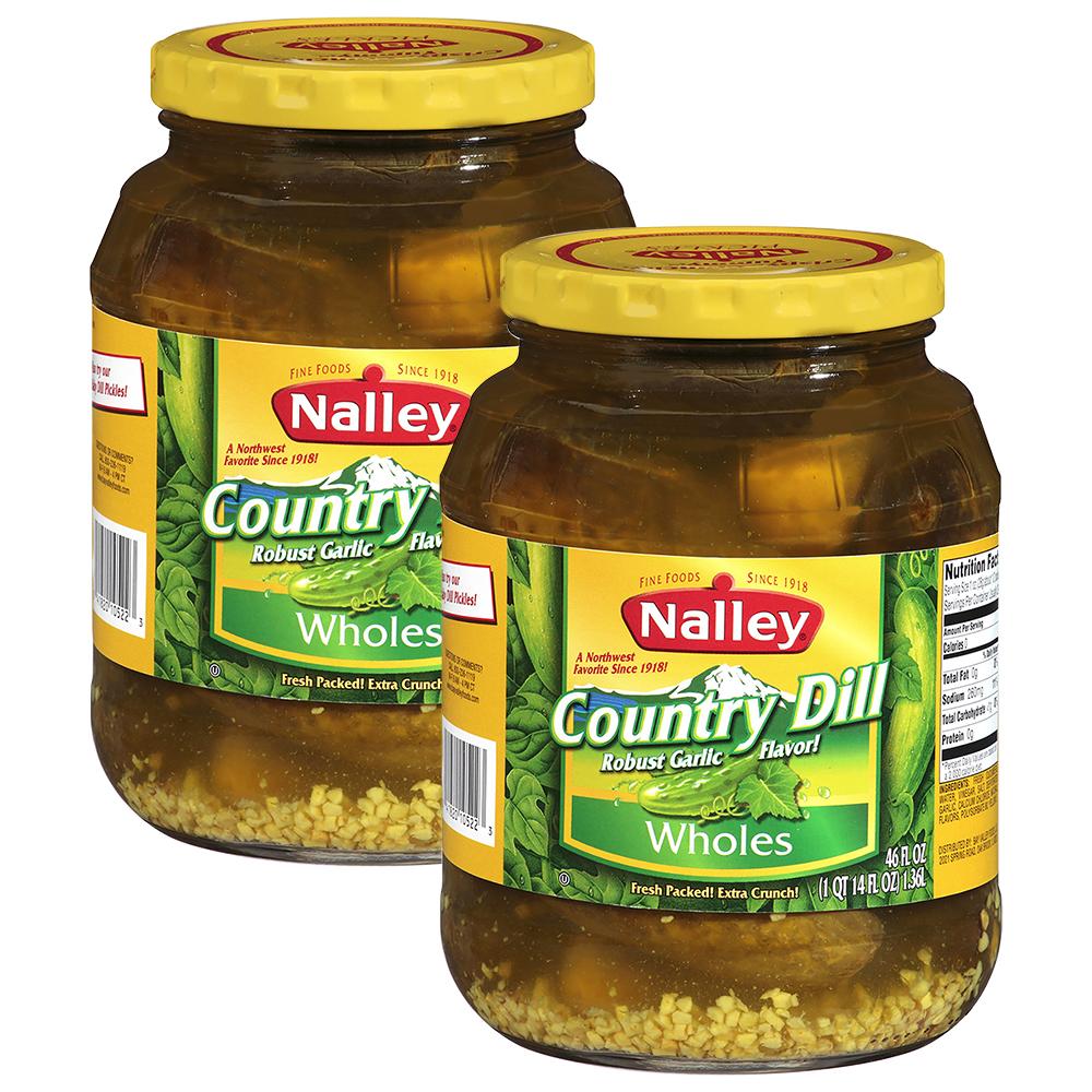 (2 Pack) Nalley®Country Dill Wholes 46 fl oz Jar - Walmart.com