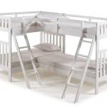 Aurora Twin Over Twin Bunk Bed With Quad Bunk Extension White Walmart Com Walmart Com