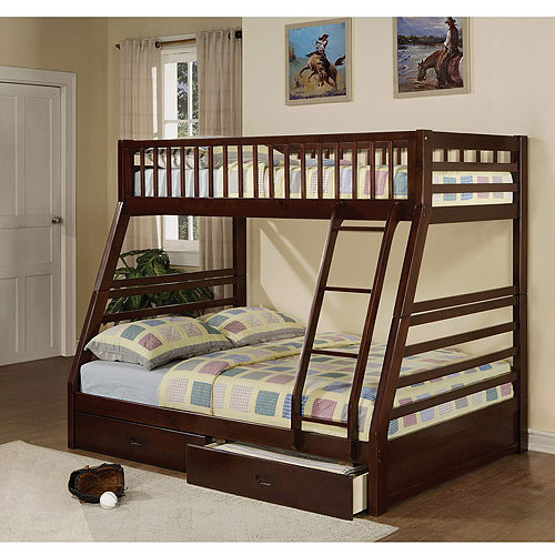 Jason Twin Over Full Wood Bunk Bed, Espresso - Walmart.com