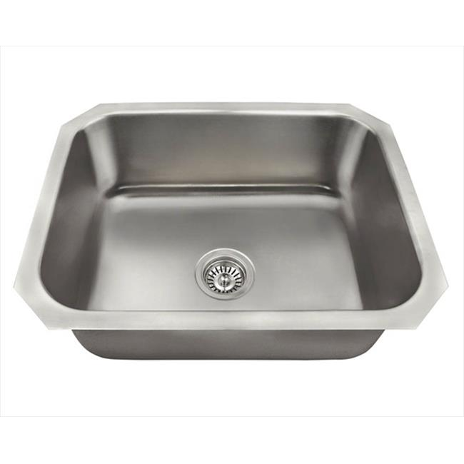 ss kitchen sinks led ceiling lighting mr direct us1038 single bowl stainless steel sink