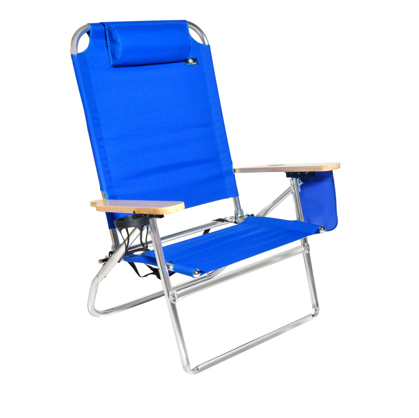 beach chairs with cup holders ashley furniture kitchen table and walmart com product image extra large high seat 3 position heavy duty chair drink holder