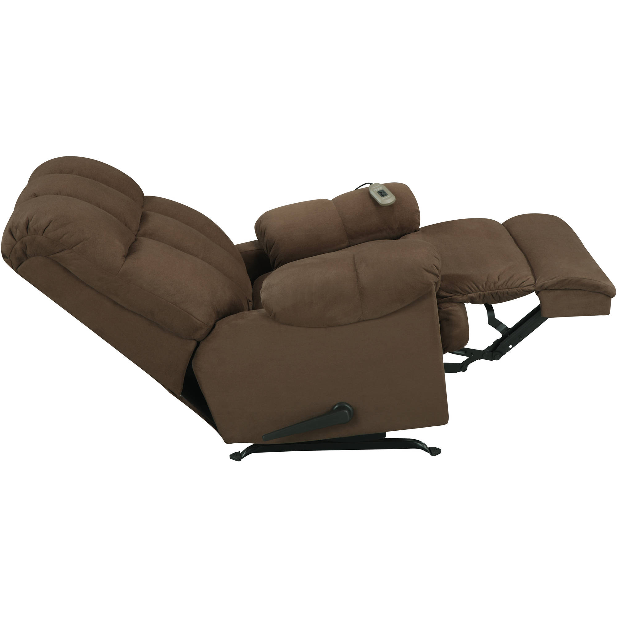 lazy boy massage chair wire chairs for sale chocolate deluxe rocker recliner comfort big tall