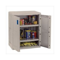 Suncast Utility Taupe Storage Base Cabinet - Walmart.com