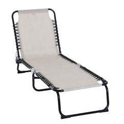 Folding Chaise Lounge Chair Walmart And A Half Slipcovers T Cushion Outsunny Portable 3 Position Reclining Beach Com