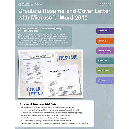 Create a Resume and Cover Letter With Microsoft Word 2010  Walmartcom