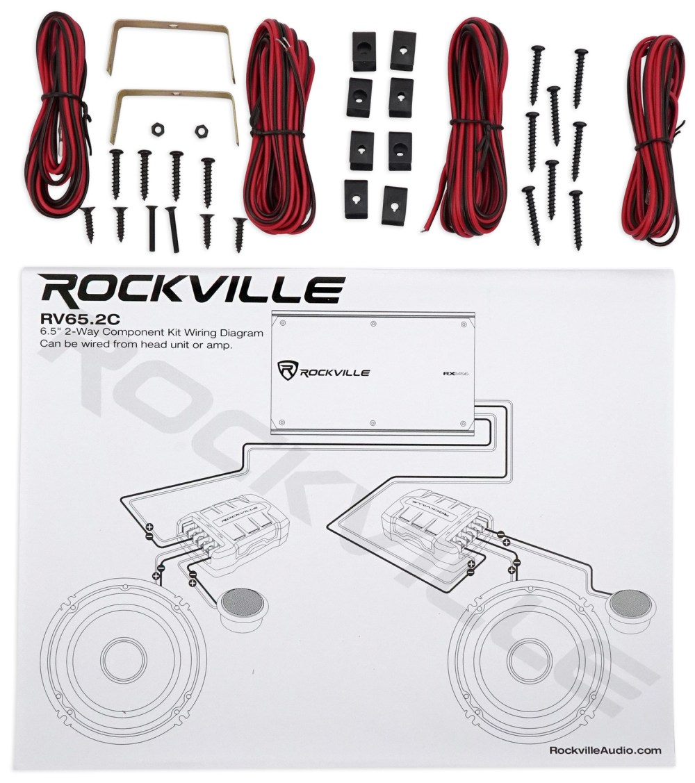 medium resolution of 2 pairs rockville rv65 2c 6 5 component car speakers 4 channel