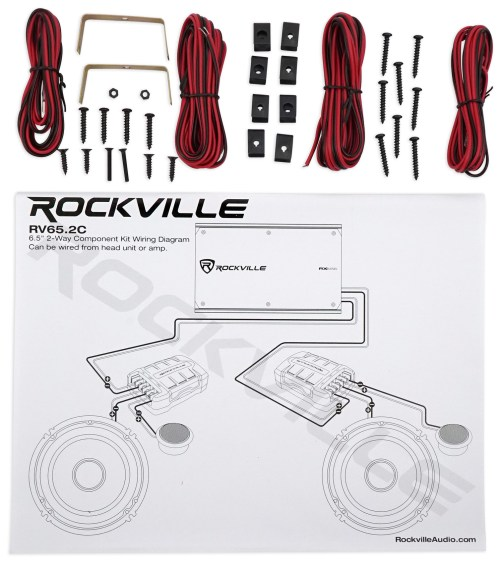 small resolution of 2 pairs rockville rv65 2c 6 5 component car speakers 4 channel