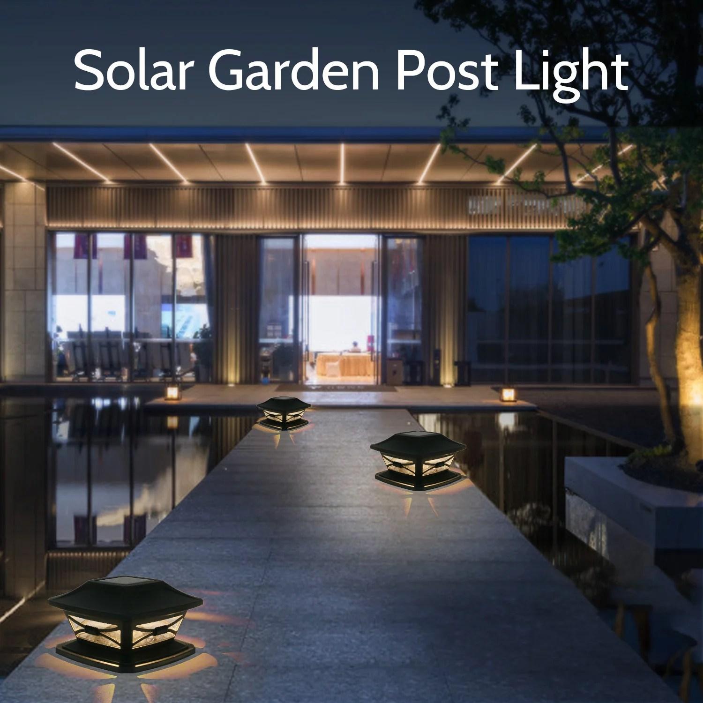 solar post lights garden landscape lamp