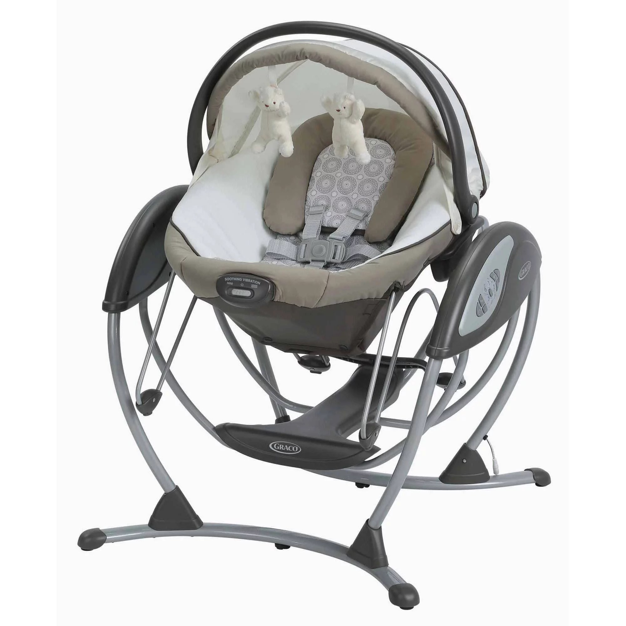 baby swing vibrating chair combo wooden church chairs uk graco soothing system glider abbington walmart com