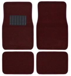 bdk car floor mats 4 pieces carpet protection universal fit for car suv va truck front rear walmart com [ 1200 x 1200 Pixel ]