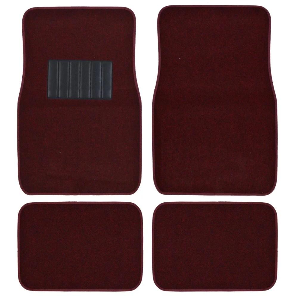 medium resolution of bdk car floor mats 4 pieces carpet protection universal fit for car suv va truck front rear walmart com