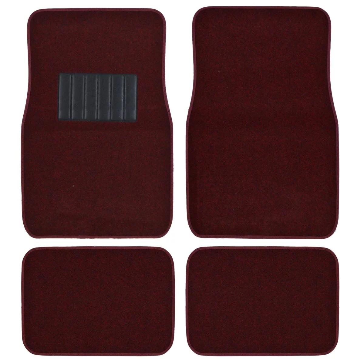 hight resolution of bdk car floor mats 4 pieces carpet protection universal fit for car suv va truck front rear walmart com