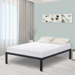 Granrest 18 Modern Dura Steel Slat Bed Frame Non Slip Walmart Com Walmart Com
