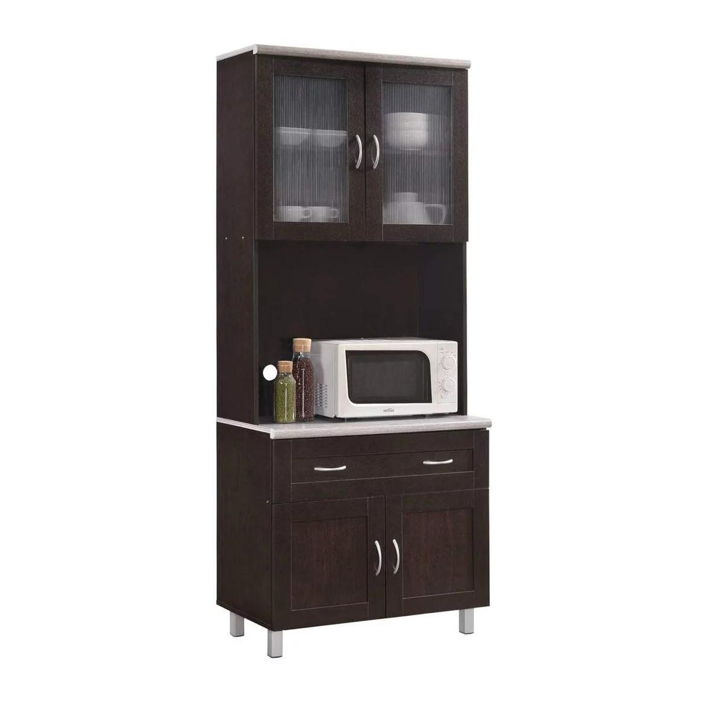 hodedah dining room china dinnerware microwave storage cabinet chocolate