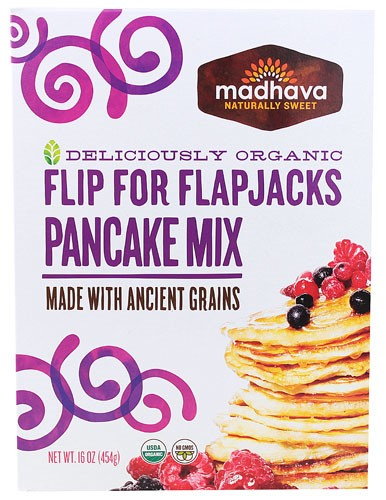 Madhava Honey Pancake Mix Organic Grain 16 Ounce Walmartcom
