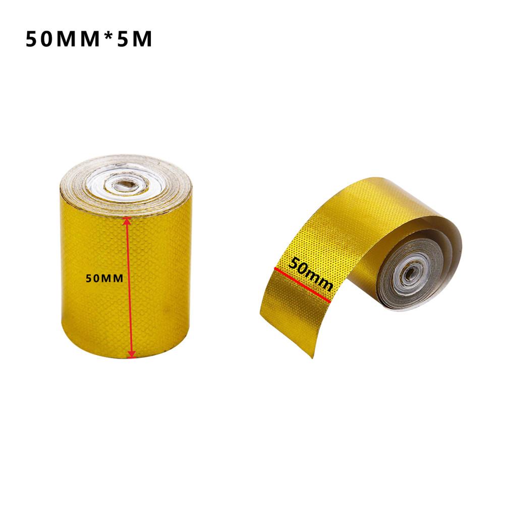 automotive exhaust pipe decorative tape heat shield wrap gold aluminum foil