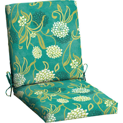 outdoor patio wrought iron chair pad dining table chairs for sale mainstays cushion, green texture - walmart.com