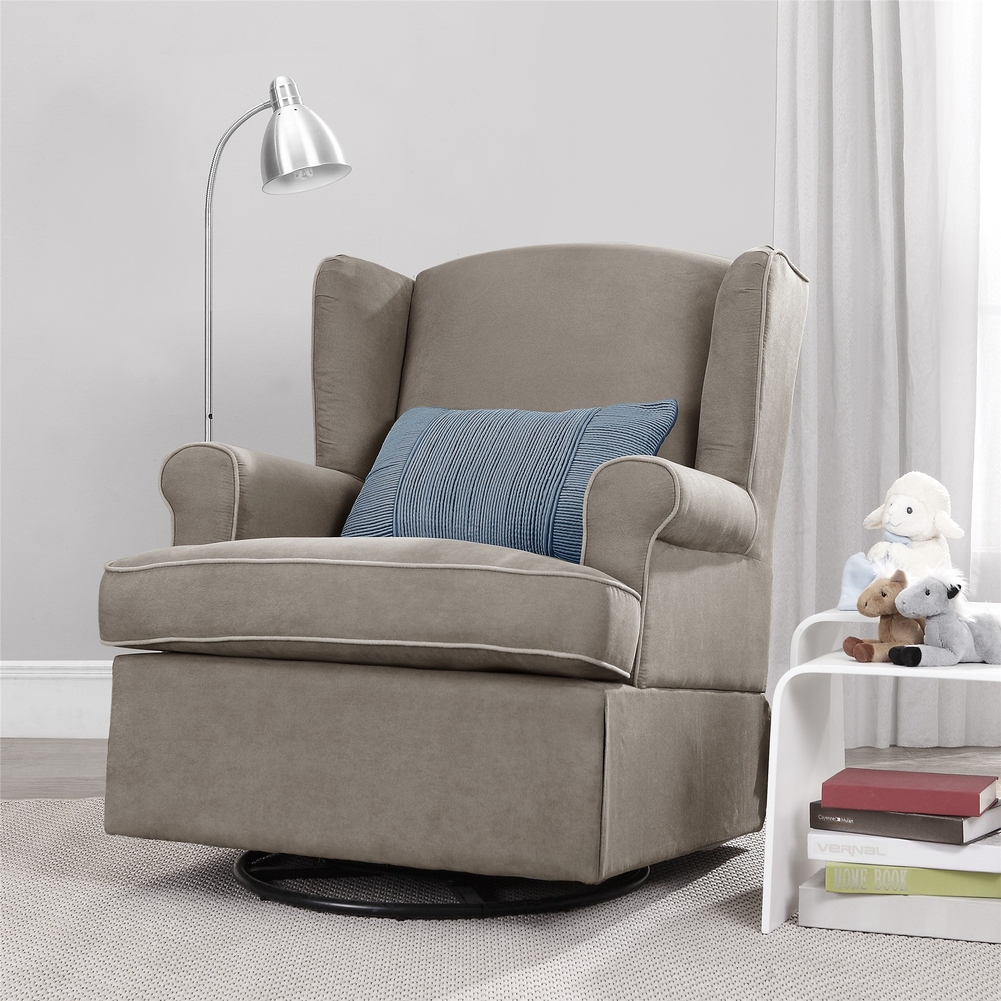 swivel rocking chairs for living room morden baby relax colby glider dark taupe walmart com