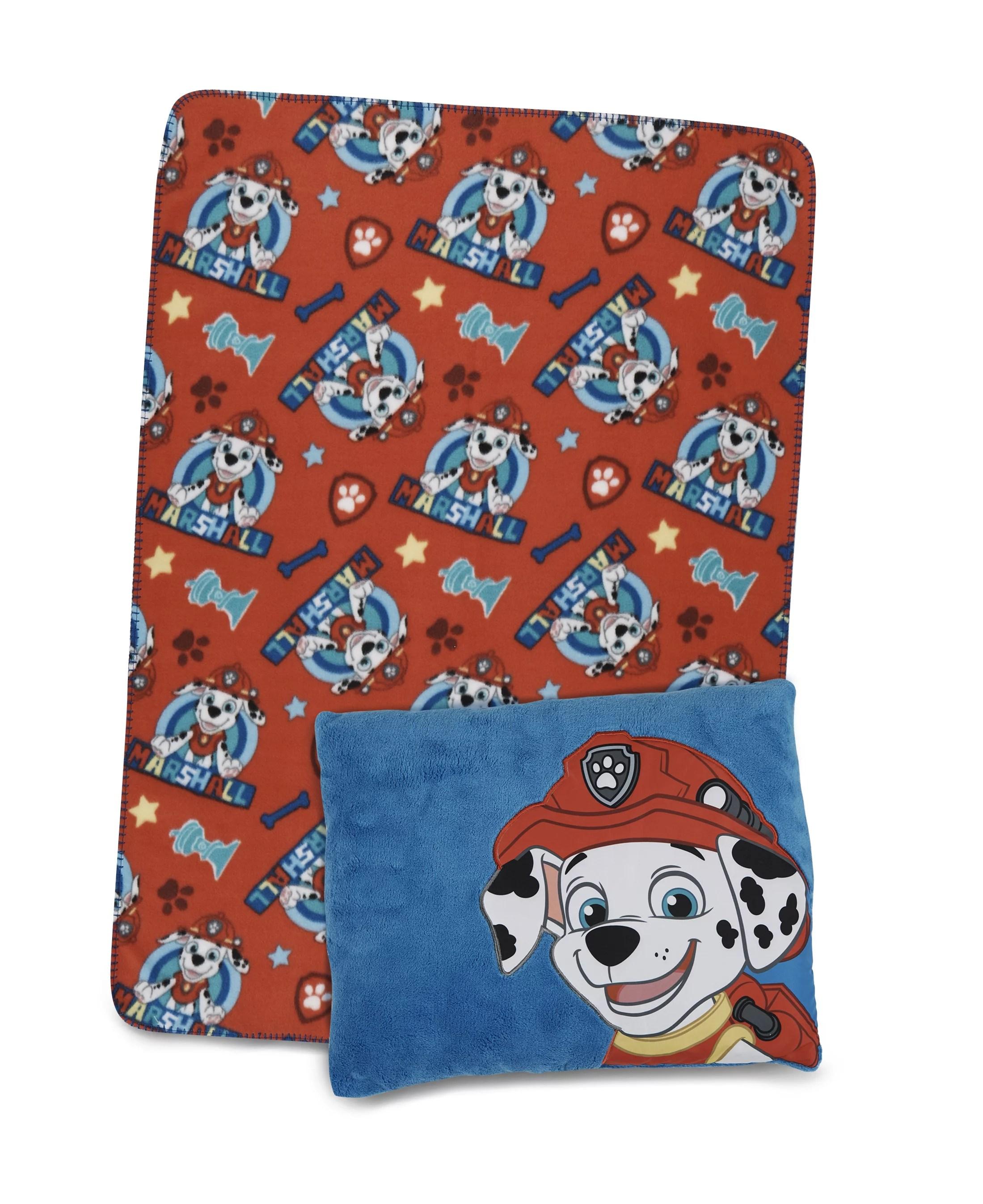 paw patrol marshall toddler pillow blanket set walmart com