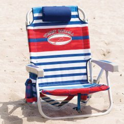 Tommy Bahama Cooler Chair Painted Adirondack Chairs For Sale 2017 Backpack Beach With Storage Pouch And Towel Bar Red White Blue Walmart Com