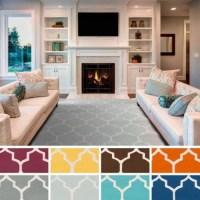 Surya Carpet, Inc. Hand-Woven Nicole Lattice Cotton Rug (2 ...
