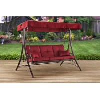 Mainstays Callimont Park 3-Seat Canopy Porch Swing Bed ...
