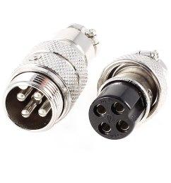 unique bargains silver tone 4 pins female male microphone mic connector set walmart com [ 1100 x 1100 Pixel ]