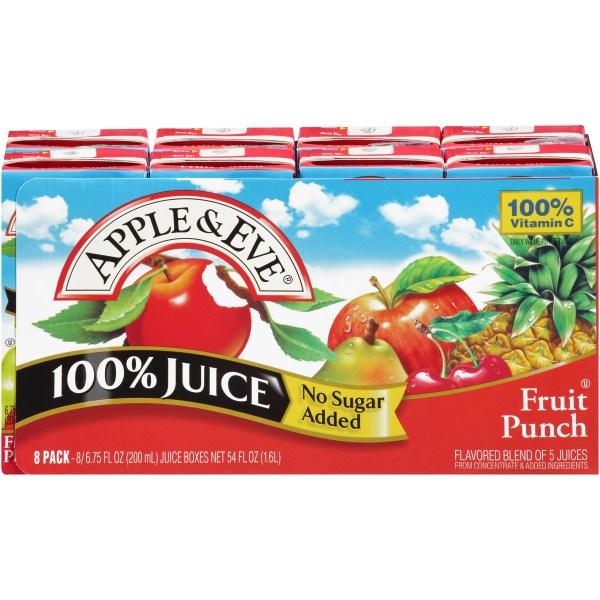 Apple Eve 100 Juice Fruit Punch 675 Fl Oz 8 Count