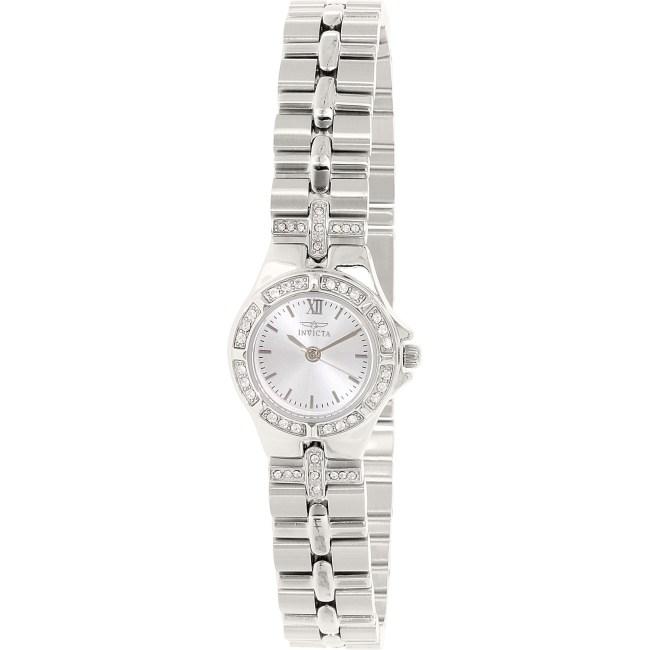 Invicta Women's Wildflower 0132 Silver Stainless-Steel Swiss Quartz Fashion Watch
