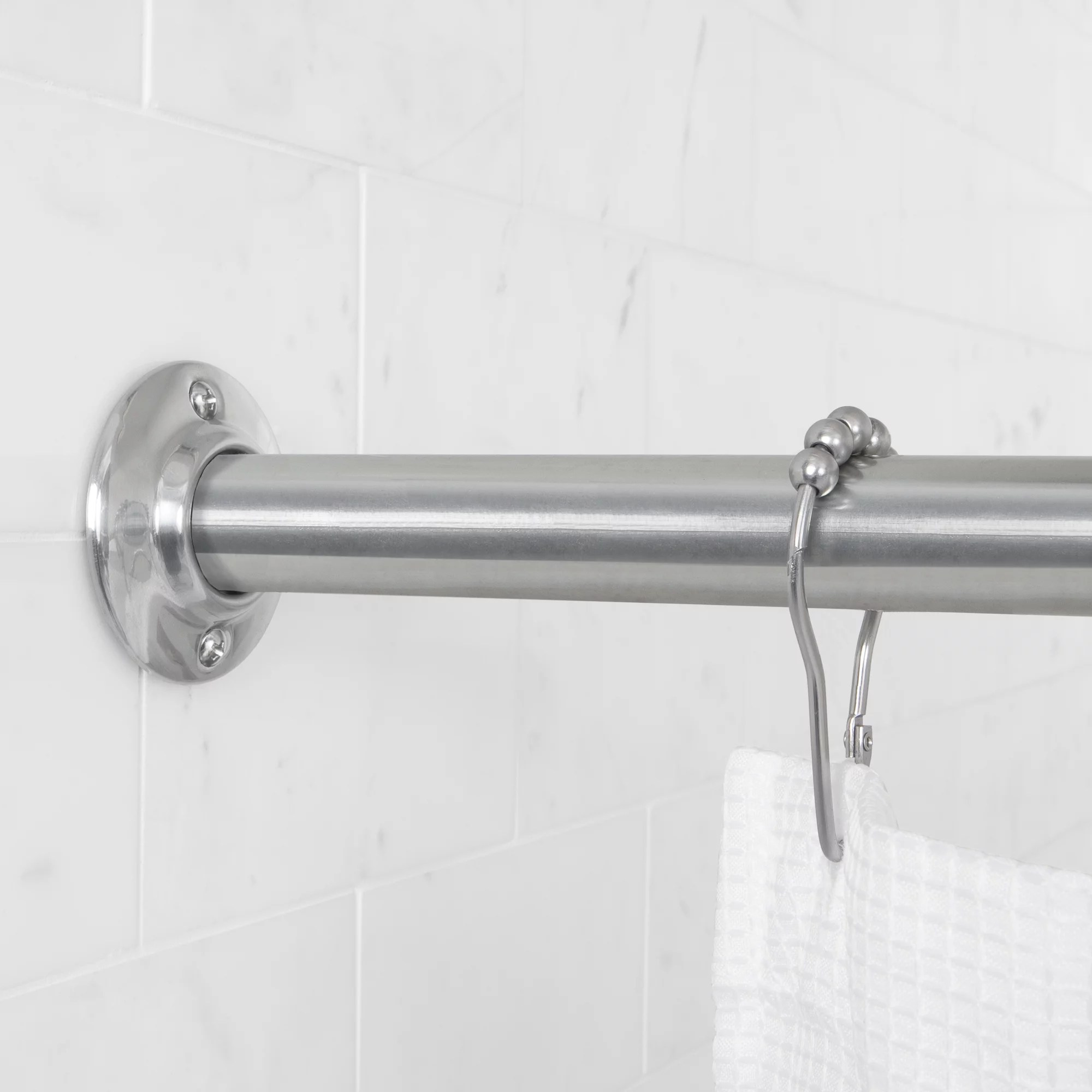 mainstays permanent straight shower curtain tension rod 1 each