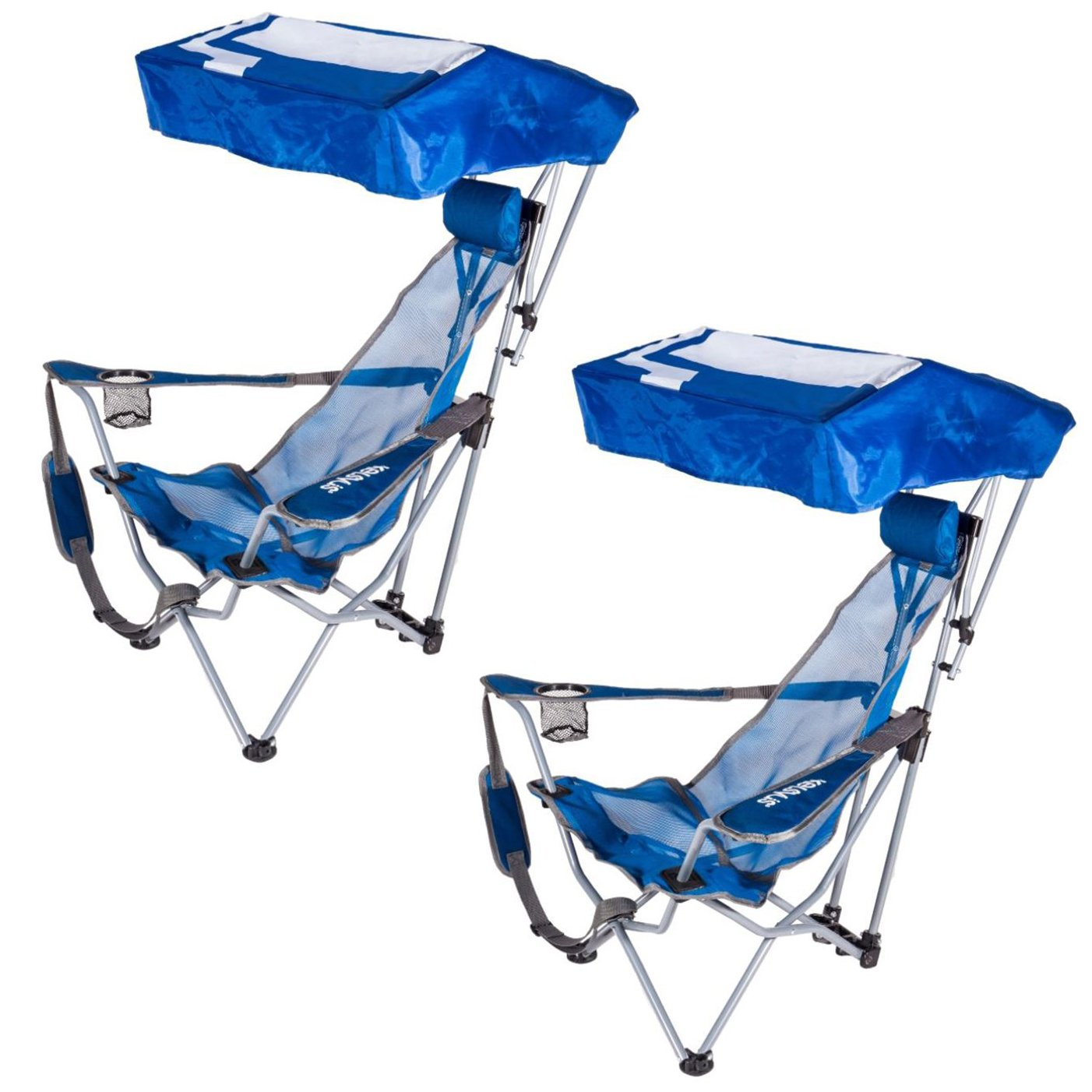 portable lawn chairs patio menards kelsyus backpack beach camping folding chair with canopy 2 pack walmart com